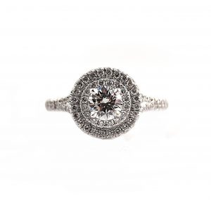 Round Brilliant Cut Double Halo Diamond Engagement Ring | B23120