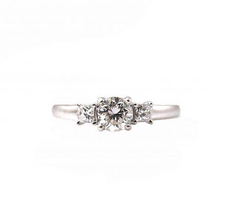 Diamond trilogy engagement ring | B23077