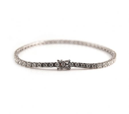 White Gold Diamond Tennis Bracelet   B22999