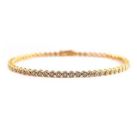 Diamond Set Bezel Tennis Bracelet | B22561