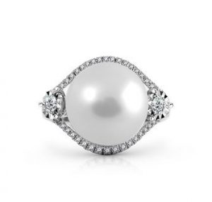South Sea Pearl And Diamond Cocktail Ring | B21573