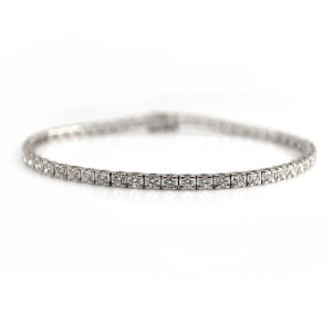 White Gold Diamond Tennis Bracelet | B22999