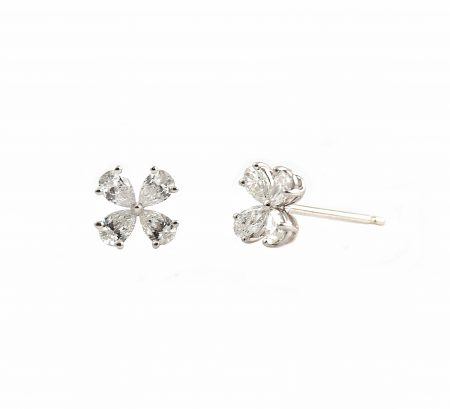 Diamond Clover Stud Earrings | B23134