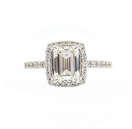 Emerald Cut Diamond Engagement Ring | B23139