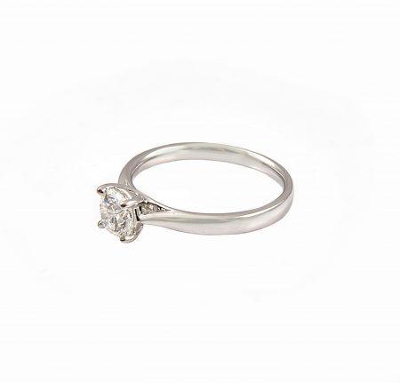 Four Claw Diamond Set Engagement Ring | B23145