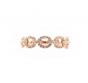 Rose Gold Diamond Linked Dress Ring | B23147