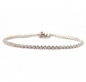 White Gold Claw Set Diamond Tennis Bracelet | B23150