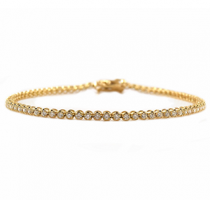 Yellow Gold Claw Set Diamond Tennis Bracelet | B23151
