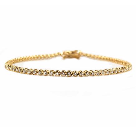 Yellow Gold Claw Set Diamond Tennis Bracelet | B23151