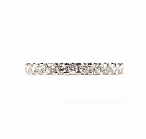 Diamond Claw Set Wedding Ring | B23155