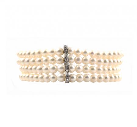 Fancy Fresh Water Pearl Bracelet   B22198