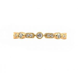 Fancy Diamond Set Wedding Band | B23117