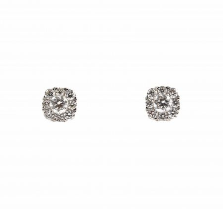 Diamond Cluster Stud Earrings | B23256