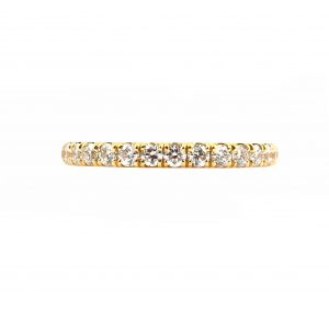 Diamond Set Yellow Gold Wedding Band | B23265