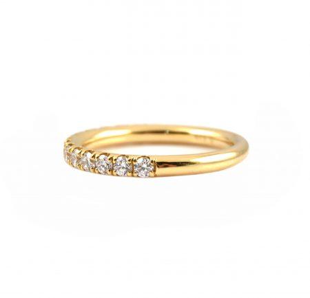 Diamond Set Yellow Gold Wedding Band | B23265