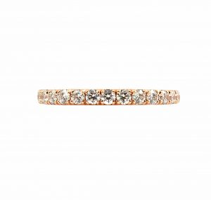 Diamond Set Rose Gold Wedding Band | B23266