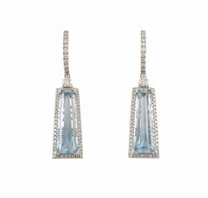 Aquamarine And Diamond Custom Collection Earrings | B23283