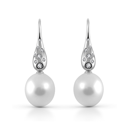 Autore South Sea Pearl And Diamond Drop Earrings | B23469
