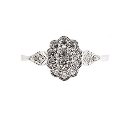 Art Deco Style Diamond Dress Ring B23623 Diamonds Pearls Perth