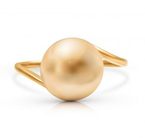 Golden South Sea Pearl Twist Ring | B23655