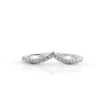 V Shape Diamond Set Band | B23823