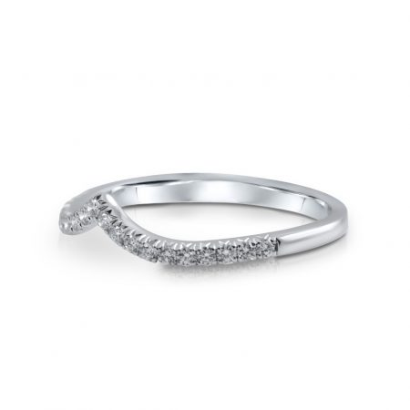 V Shape Diamond Set Band | B23823(2)