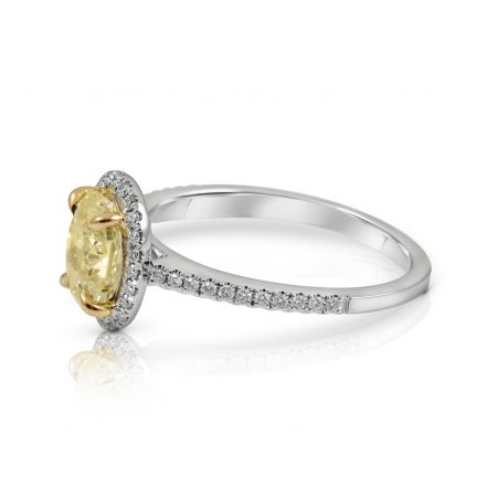 Oval Yellow Diamond Halo Engagement Ring | B23866(2)
